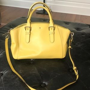 Kate Spade textured yellow purse